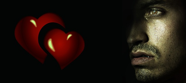 muž a dvě srdce