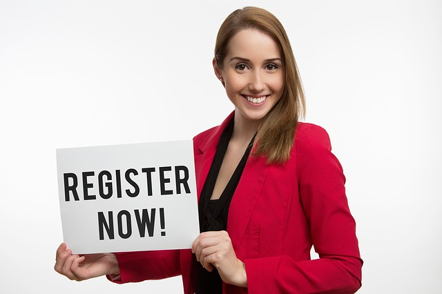 žena s registrací