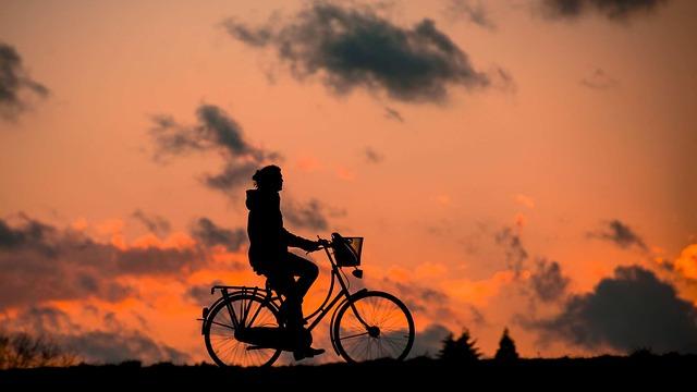 silueta cyklistky