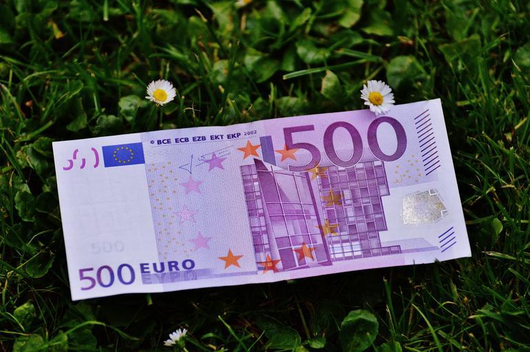 peníze na louce
