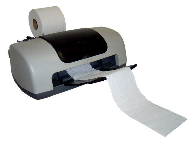tiskárna na toaletní papír