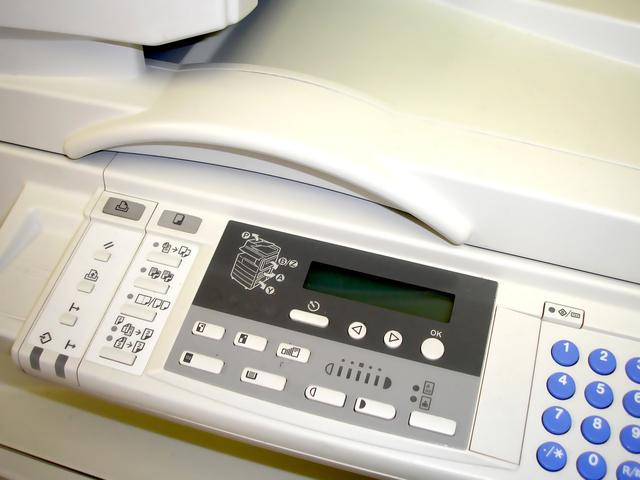 ovládací panel tiskárny
